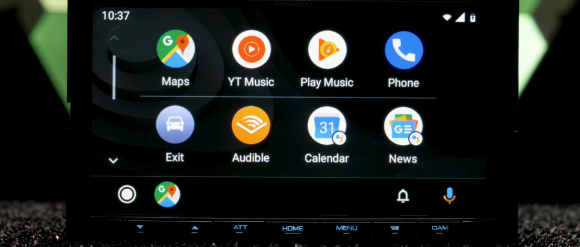 Android auto: new update with a new design.